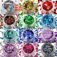 TCAST 001 Laser Color Holographic Colors 12 Kinds Shapes Glitter For Nail Art Nail Gel Makeup