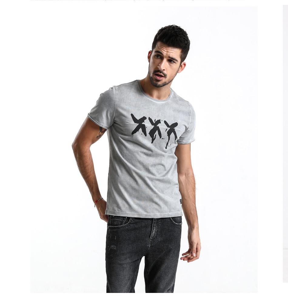 HTB11E5KdBjTBKNjSZFuq6z0HFXaW - SIMWOOD 2019 Summer Vintage T Shirt Men Slim Fit Fashion Short Sleeve Pattern Vintage Cotton Tops High Quality Tee 180142