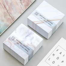 400 Pcs/pack Novelty Big white marble square memo pad sticky note for school supplies stationery