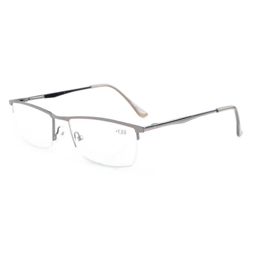 Herren-brillen Lesebrillen 0,5/0,75/1,0/1,25/1,5/1,75/2,0/2,25/2,5/2,75/3,0/3,5/4,0 Angenehm Zu Schmecken R1614 Eyekepper Qualität Federscharniere Halbrand Lesebrille