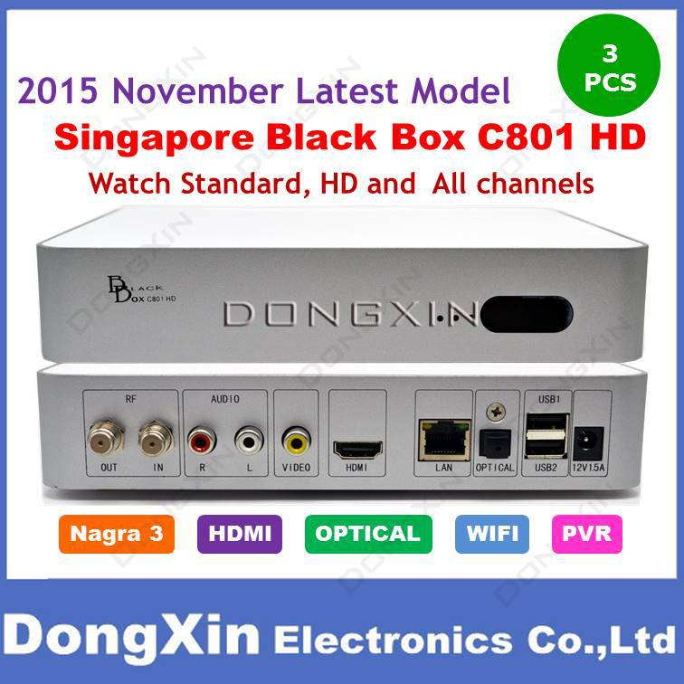 2015 The Latest Version Singapore Starhub Cable TV Set top Box Blackbox c801 upgrade of HDC600 Support Nagra3 starhub HD channel cost effective singapore starhub tv box freesat v7 cable