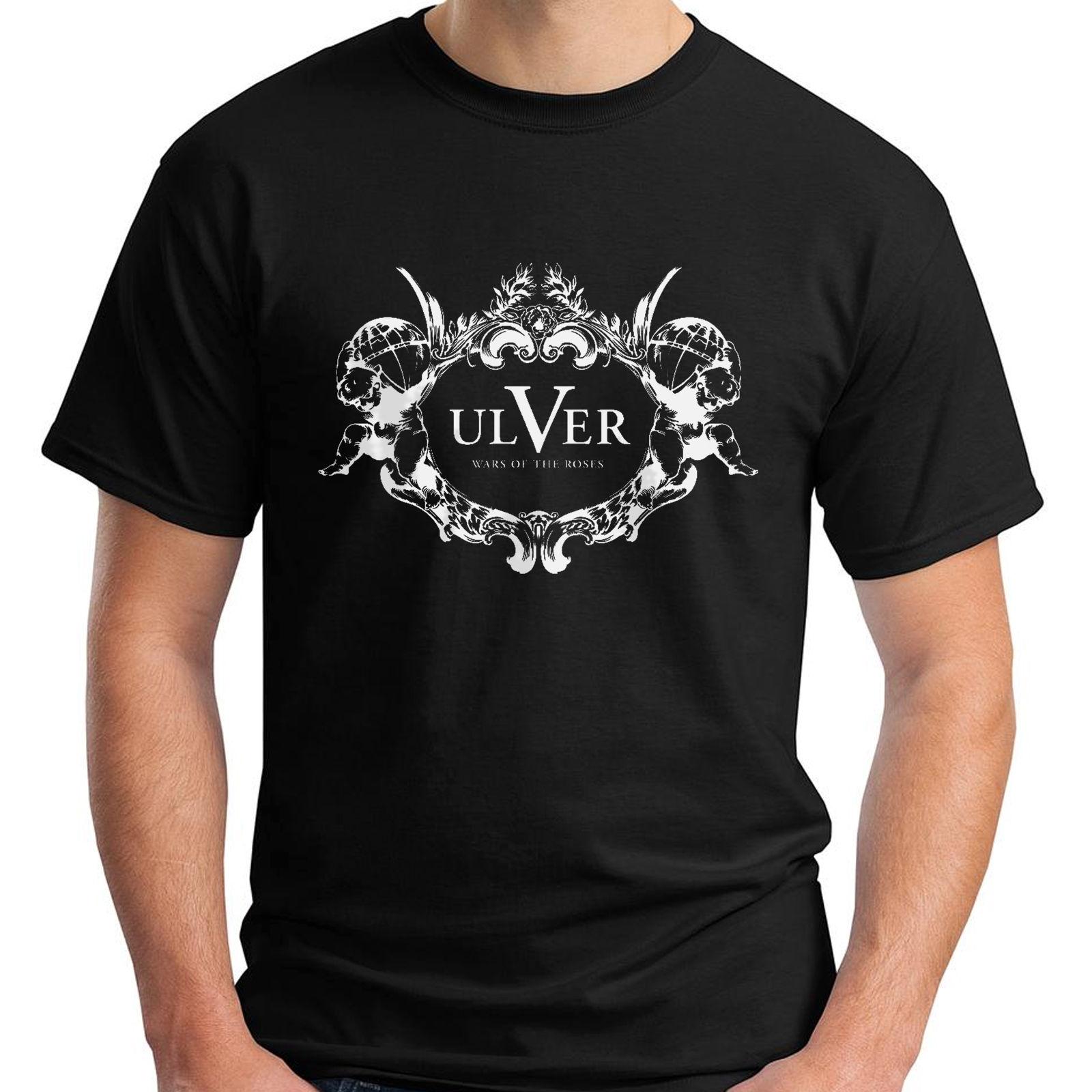 New ULVER Band Black Men's T-Shirt Size S-3XLMENS T-SHIRT Printed
