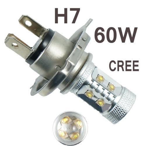 2pcs H7 High Power Led Car Fog Running Light Bulbs White