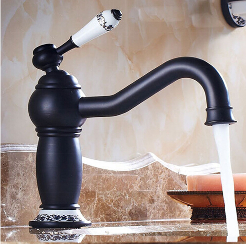 New arrival Europe style high quality sink faucet brass hot and cold black ORB single lever basin faucet bathroom sink tap new arrival tall bathroom sink faucet mixer cold and hot kitchen tap single hole water tap kitchen faucet torneira cozinha