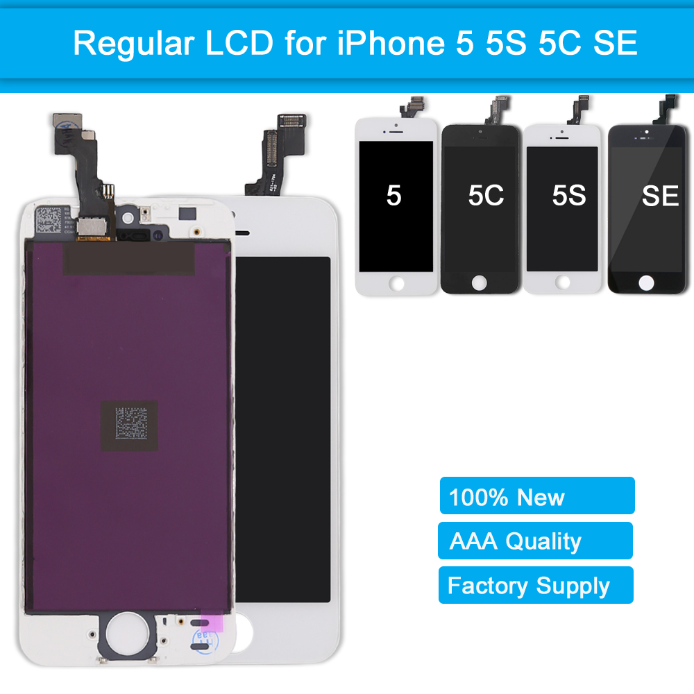 LCD Screen for iPhone SE 5S 5C 5 Touch Screen Display Digitizer Assembly Replacement Screen for iPhone 5 5S 5C SE With Frame image