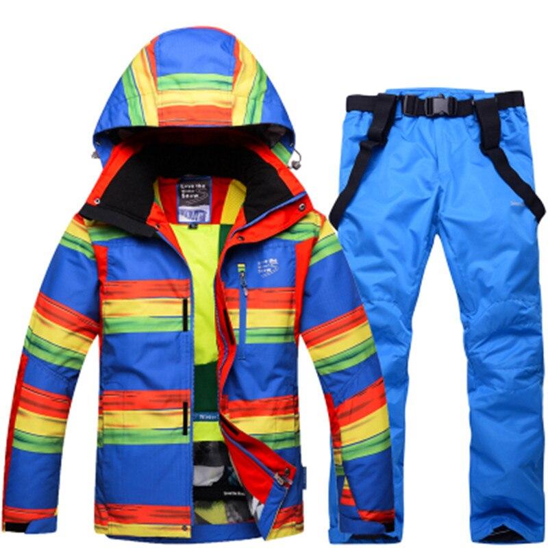 High quality Outdoor winter ski jacket + ski pants men windproof breathable thickening ski suit men's large back Ski pants hot winter beanie knit crochet ski hat plicate baggy oversized slouch unisex cap