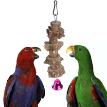 Natural Woods Pet Birds Parrots Toys Training Peck Chew Hanging Cage Concave Convex Gerbil Exercise Toy