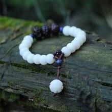 Mulheres pulseiras 2016 new arrival branco bodhi frisado características pingente de acessórios de moda jóias charme pulseira BS17