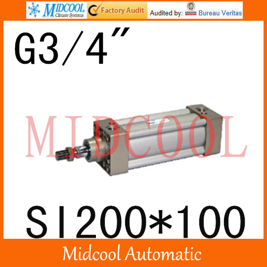 SI series ISO6431Standard cylinder SI200*100 port 3/4 bore 200mm Adjustable cylinder si series iso6431standard cylinder si160 200 port 3 4 bore 160mm adjustable cylinder