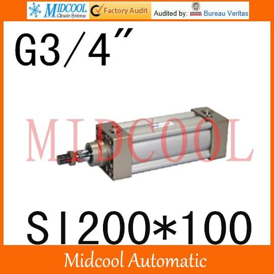 SI series ISO6431Standard cylinder SI200*100  port 3/4 bore 200mm Adjustable cylinder iso 100 в перми