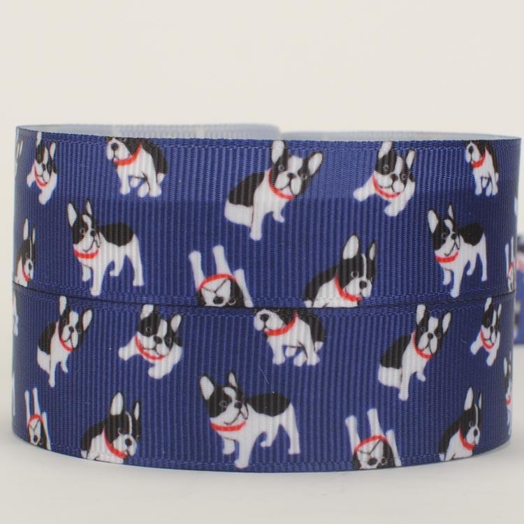NEW sales 50 yards cute dog ribbon printed grosgrain cartoon ribbons free shipping