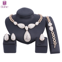 hot deal buy fashion wedding african beads jewelry sets dubai gold color crystal jewelry sets costume romantic jewelry