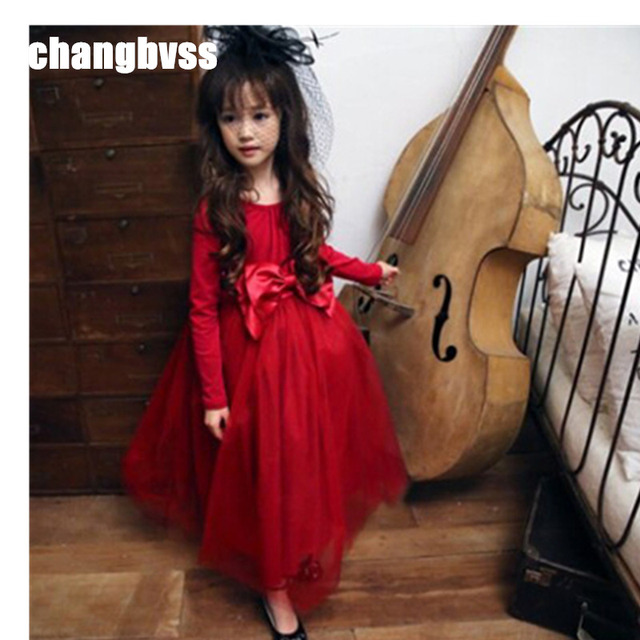 High Quality Brand Girl Lace Princess Dress with Bow Kids Girl Wedding Dress Infants Bridesmaid Clothes Summer Vestidos