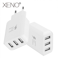 Adaptive Fast Charging EU Plug 5V/2A For Huawei Charger 3 USB Ports Mobile Phone for P30 P20 Pro