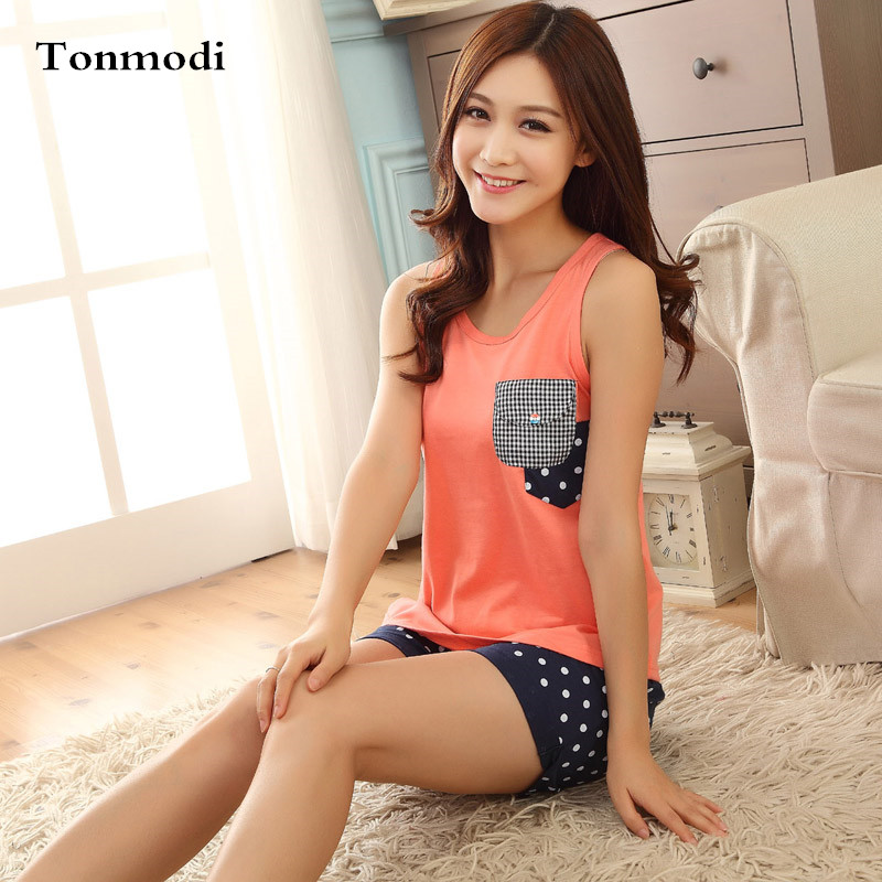 Aliexpress.com : Buy Girls Pajamas Summer Sleeveless Vest Cotton ...