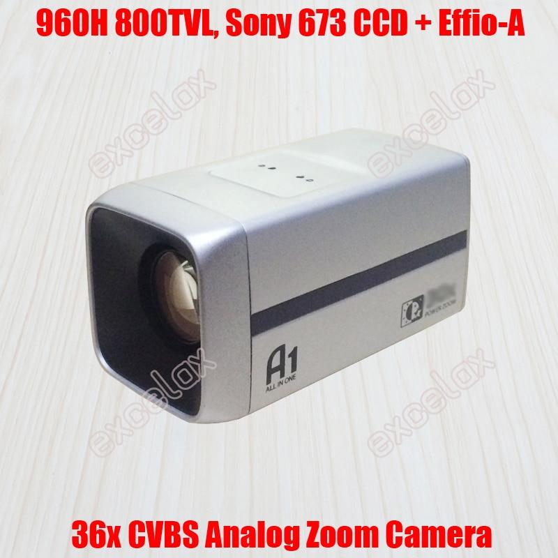 960H D1 800TVL Analog 18x Optical 36x 26x 1 3 Sony 673 672 CCD Effio A