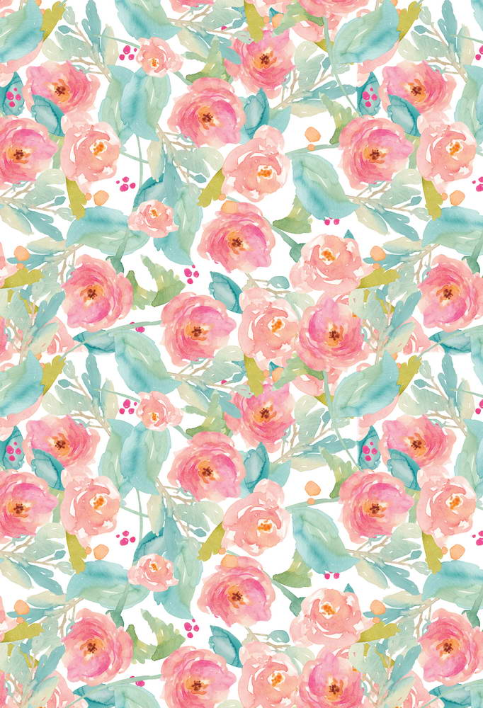 Vinyl Cloth Pink Love Floral Pattern Photography Backgrounds For