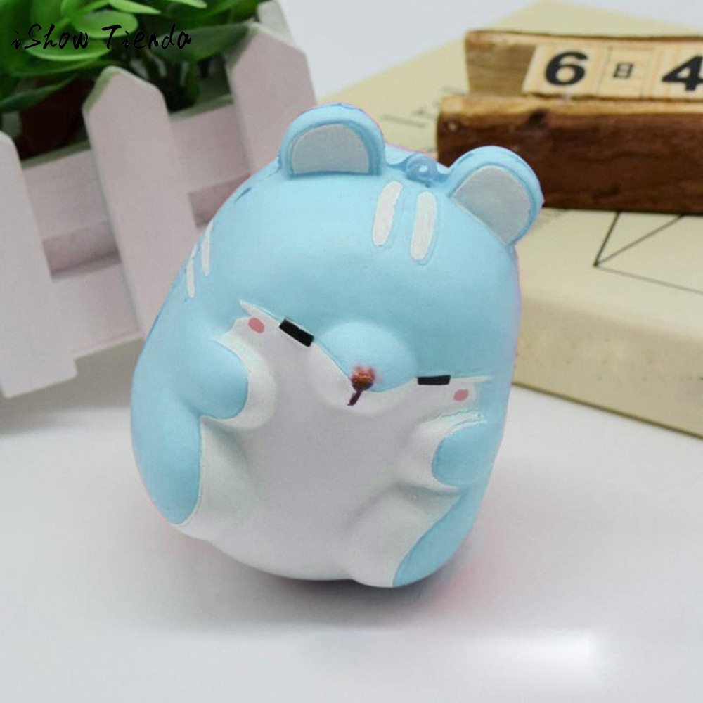 ISHOWTIENDA Fun Autism toy Hamster Squishy Decor Slow Rising Kid Toy Squeeze Relieve Anxiet Gift Toys for children adult Gadgets pa93 pu foam shrimp model squishy relieve stress toy