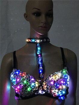 LED Bunte Bh DJ Bars Nachtclubs Kostüm Disco Tanzen-bh
