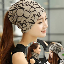 Korean Women Spring Autumn Winter Warm Cover Headgear Beanies Winter Scarf Knitted Hat Hip-hot Skullies Girls Gorros