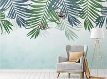 Factory direct modern tropical plant background wallpaper mural
