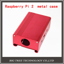 pink Metal Box/ Case For Raspberry Pi 2 With Fan Also Fit For Camera Alu-case metal aluminum case