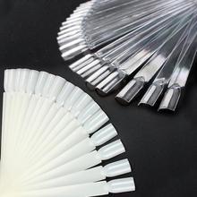 50 шт. ложный дисплей для дизайна ногтей веерное колесо лак для ногтей украшение для ногтей дисплей для полировки доска для практики кончик палочки для дизайна ногтей