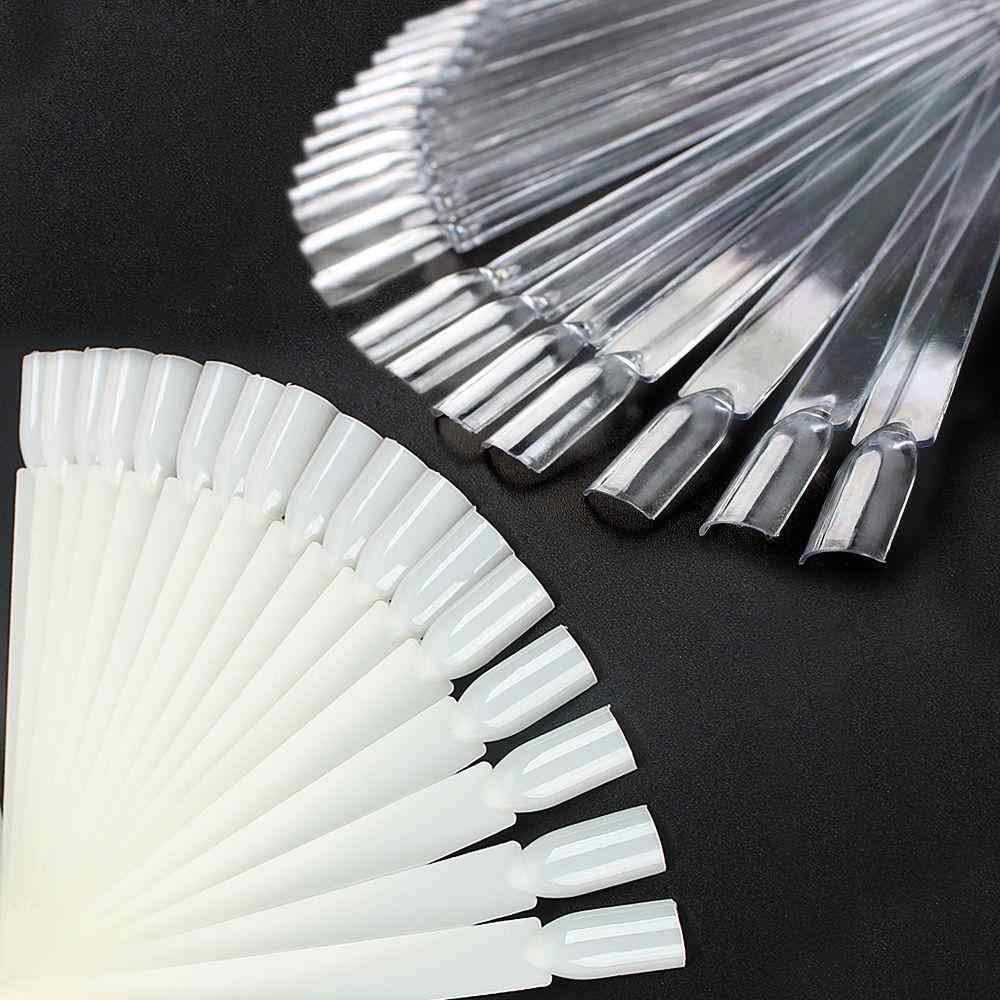 50pcs Valse Display Nail Art Fan Wiel Nagellak Nail Decoratie Display Polish Praktijk board Tip Sticks Nail Art
