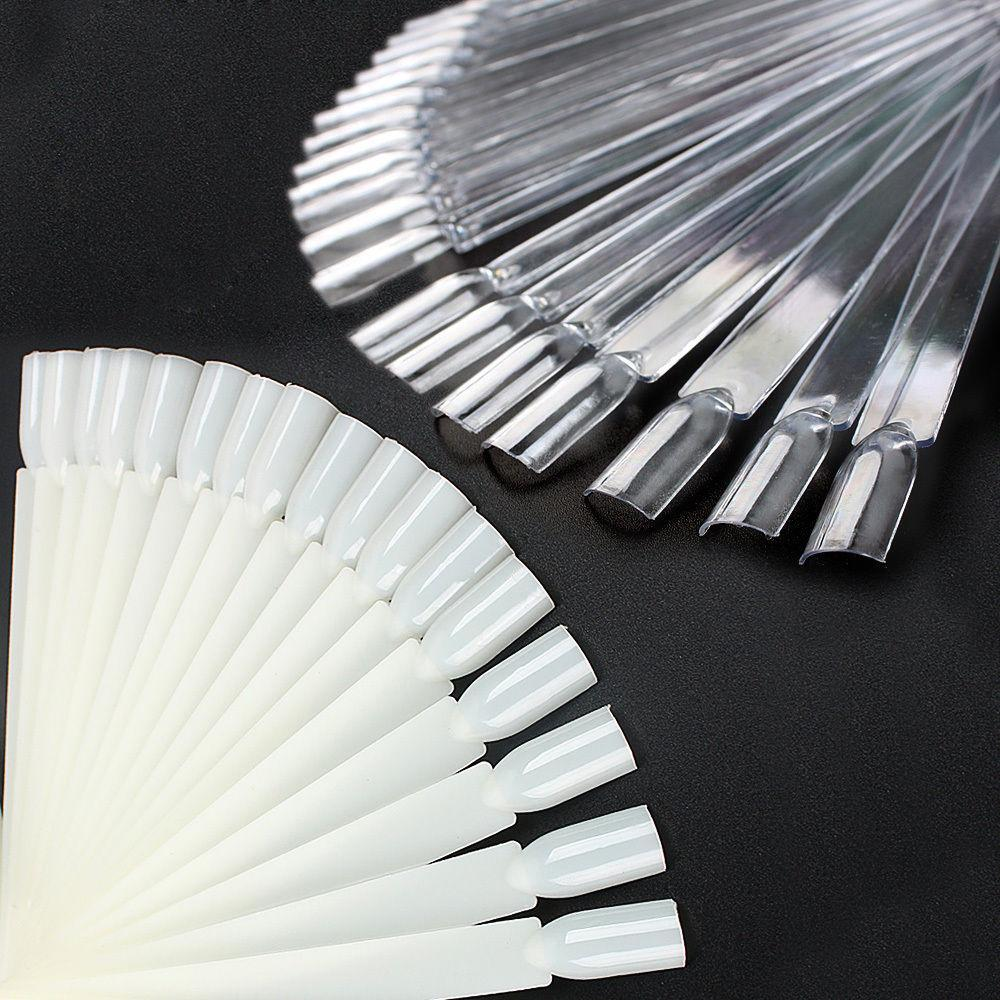 50pcs False Display Nail Art Fan Wheel Nail Polish Nail Decoration Display Polish Practice Board Tip Sticks Nail Art
