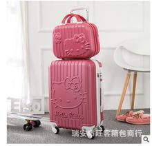 Women Travel Trolley suitcase Travel Rolling Case On Wheels 24″ Inch Travel Luggage Suitcase Luggage trolley bag Hello Kitty