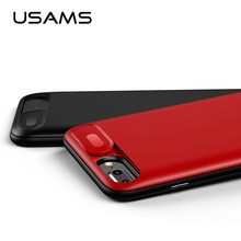 USAMS Batterij Charger Cases voor iPhone 6 6 s 7 8 Plus 3000/4200 mah Power Bank Case Ultra slanke Externe Pack Backup charger case(China)