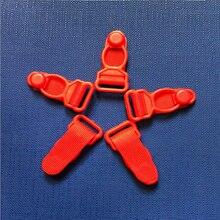 Plastic Black/Pink/Red/White Corset Leg Garter Belt Clip Hooks Suspender Ends Hosiery Stocking Grips 200 pcs/lot