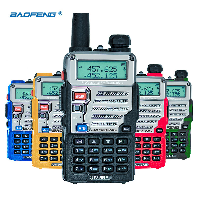 Baofeng UV-5RE Walkie Talkie UHF VHF CB-radiostation 128CH Tvåvägsradio UV-5R uppgraderad UV 5RE bärbar skinkradio för jakt