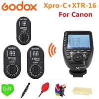 3 * Godox XTR-16 Empfänger + XPro-C-E-TTL HSS 2 4G drahtlose X System Trigger für Canon DSLR Godox V850II-C V86II-C TT685C