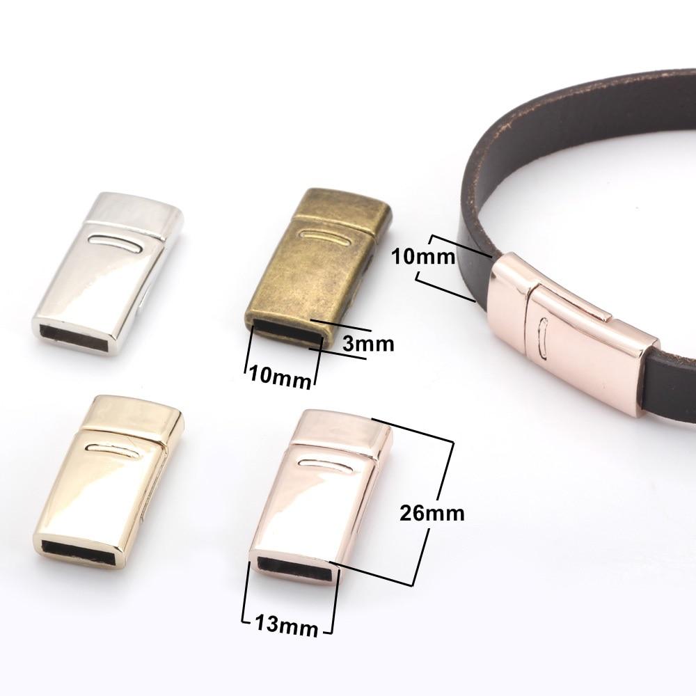 OlingArt 27*13mm 4pcs/lot Magnetic Clasp Rhodium/rose Gold/KC Gold/bronze DIYJewelry Making Fit 10*2mm Leather Cord Bracelet