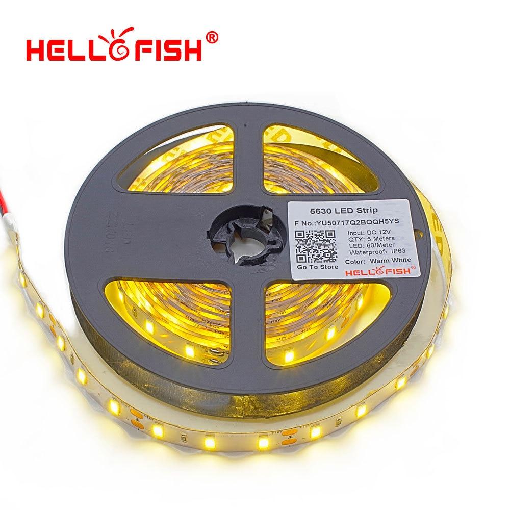 Led Light Strips Manufacturers: Aliexpress.com : Buy Hello Fish 5630 LED Strip, 12V