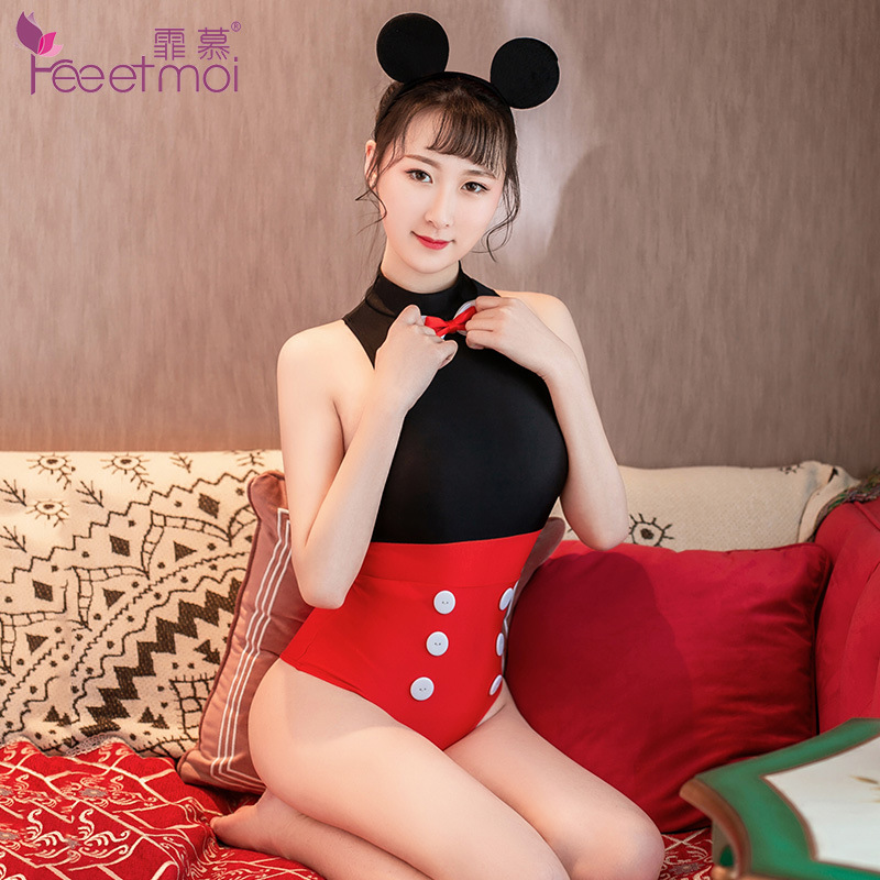 cute cartoon Disney Mickey Mouse anime love live cosplay costume <font><b>women</b></font> <font><b>Sexy</b></font> lingerie <font><b>adult</b></font> <font><b>halloween</b></font> costume cosplay MINNIE Mice image
