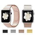 Link pulseira para apple watch band correia de aço inoxidável com 1:1 original butterfly fecho espaço black & silver geração 3
