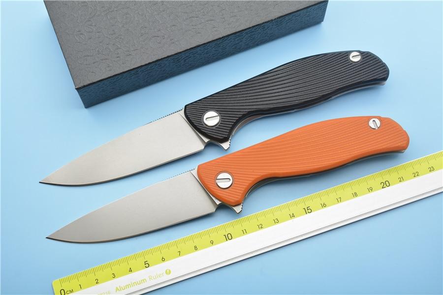 купить Green thorn HATI95 bearing flip folding knife D2 blade G10 handle outdoor hunting camping pocket EDC tool онлайн