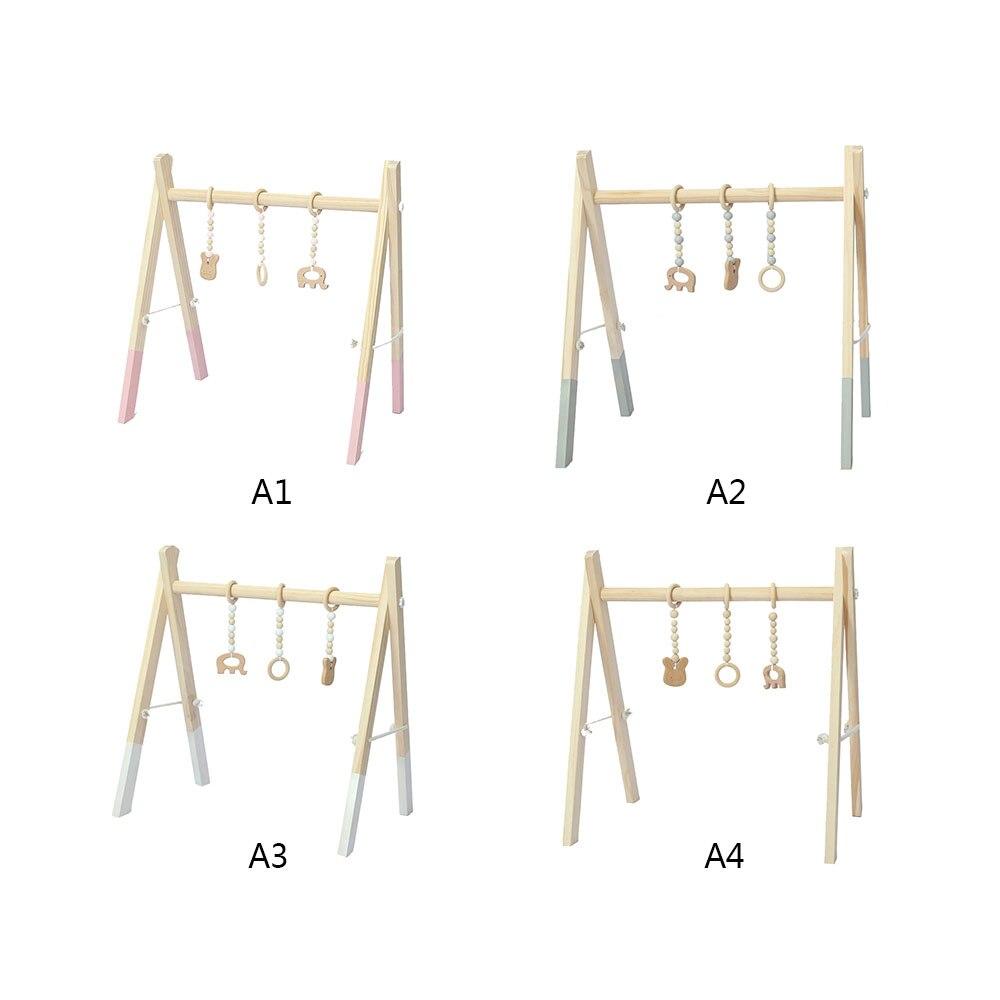 Bébé chambre décor jouer Gym jouet en bois infantile sensoriel jouet 0-12 mois hochets jouets bébé chambre vêtements Rack photographie accessoires