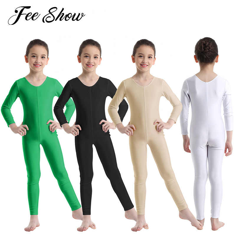 Girls Gymnastics Ballet Dance Leotard Child Ballerina Training Unitard Bodysuit