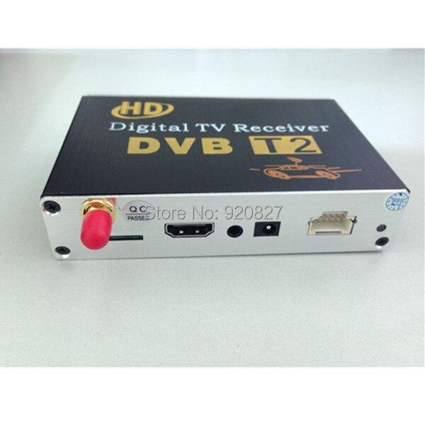 Мобильный цифровой автомобильный DVB-T2 HD 1080P внешний Автомобильный тюнер 100 км/ч цифровой ТВ-приемник DVB-T2