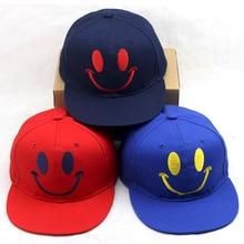 Children's hats wholesale Cartoon smiling face baseball cap summer sun hat hat kids performance caps
