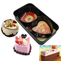 3pcs Cookies Pastry Fondant Cake Sugarcraft Decorating Mold Frame Cutter Tool Bakeware Set Tray Pan DIY