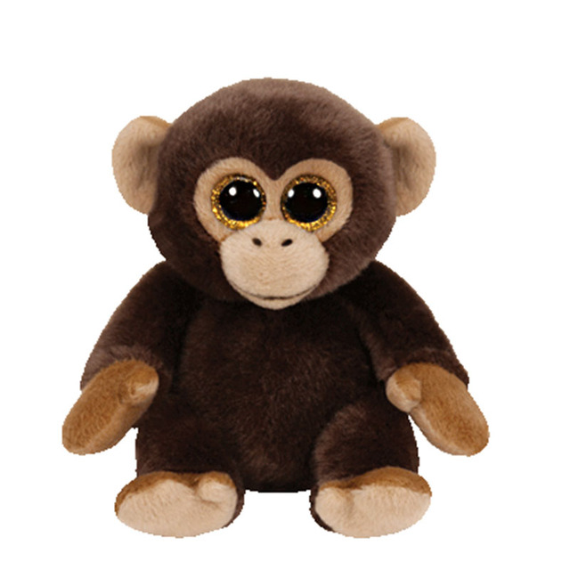 25cm 10 Ty Classic Plush Toy Big Eyed Bananas Monkey Stuffed Animal