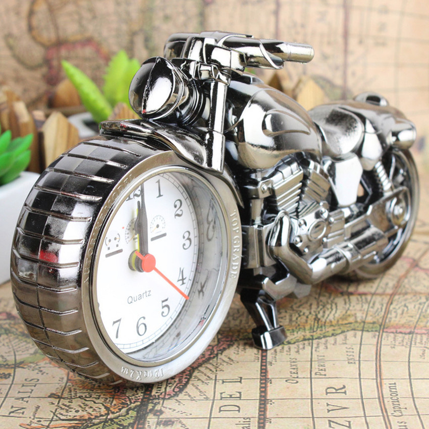 ᗔretro imitation motorcycle models alarm clock personalized home