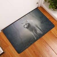 2017 nuevas alfombras de impresión de animales de Glacier antideslizantes alfombras de cocina para alfombras de sala de estar del hogar 40x60 cm 50x80 cm