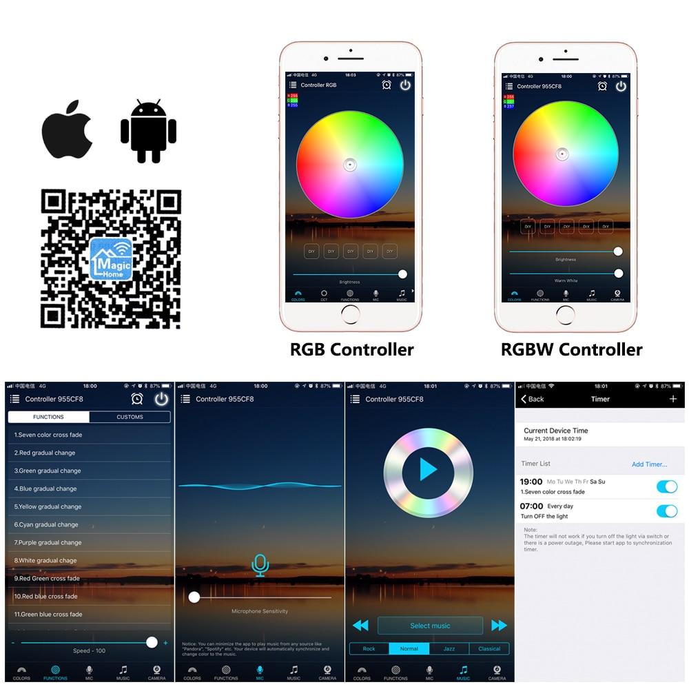 Wifi RGB / RGBW LED Controller Mini DC12V With RF 21Key / IR 24Key Remote Control For RGB / RGBW LED Strip Lights