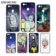 Silicone Phone Bag For OPPO F5 F7 F9 A5 A7 R9S R15 R17 Black Soft Case Rick and Morty Style