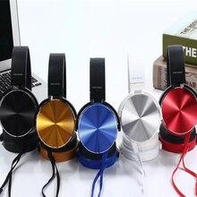 Модные стерео звук бас гарнитуры на ухо проводные наушники с микрофоном для IPhone samsung ПК ноутбук